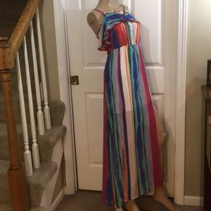 NWT Candie's Watercolor Maxi Dress